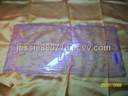 Transparent vacuum thermoforming blister tray