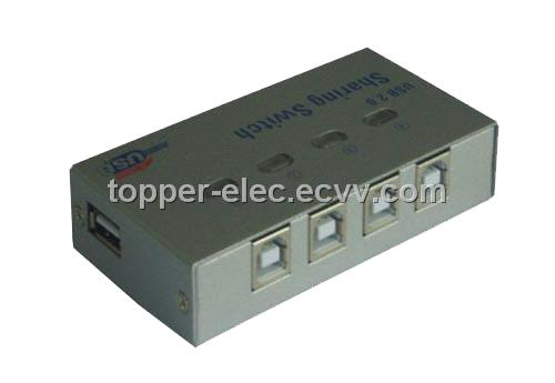 USB2.0 Sharing Printing Switch 4Port (TP-UP1A4B-A)