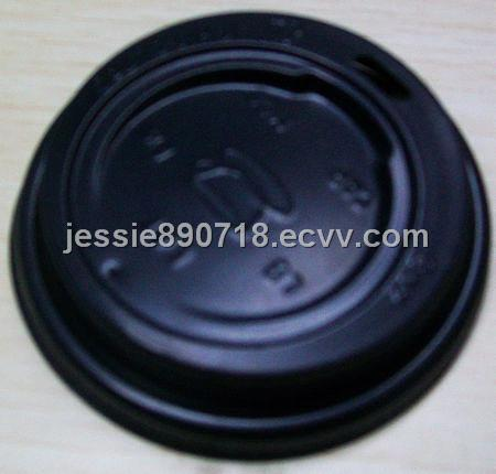 black disposable cup cover