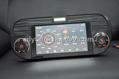 fiat500 car dvd gps with bt dvb-t radio rds mp3 mp4 ipod usb sd dtv vcd cd am/fm tuner