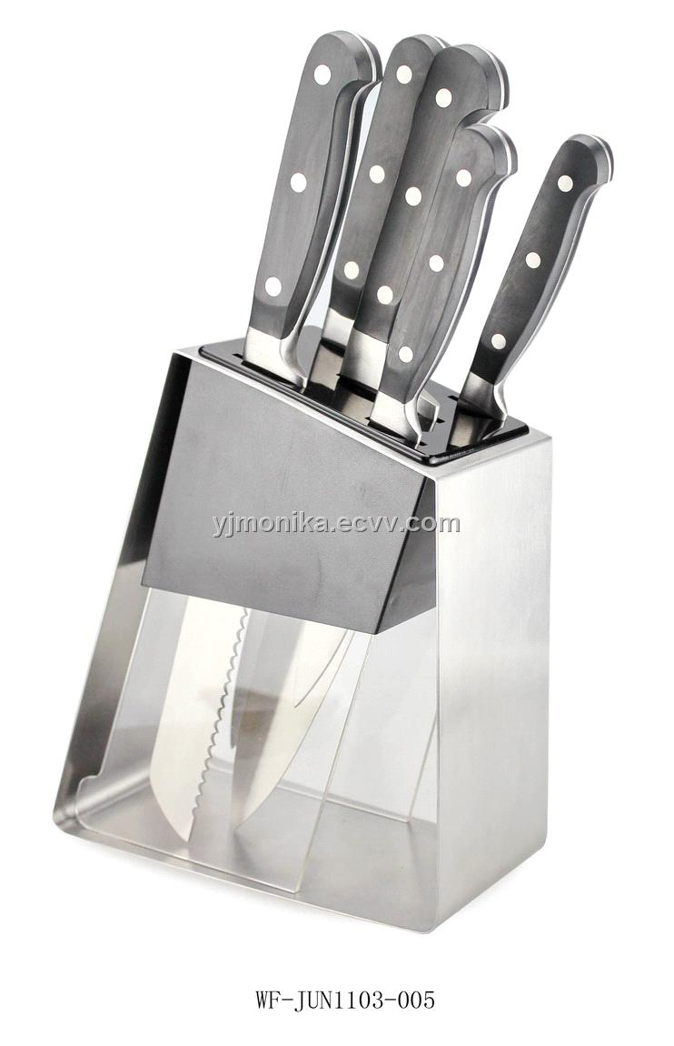 stainless steel kitchen knife set with knife block purchasing