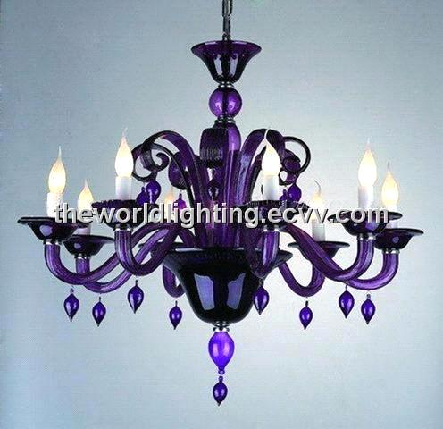 Purple glass chandelier with 8 lights chg0005 purchasing purple glass chandelier with 8 lights chg0005 mozeypictures Images