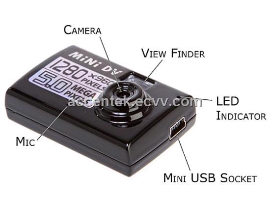 Mini Spy 8GB DVR Hidden Neck Tie Covert Camera AVI Remote Control USB Record Cam