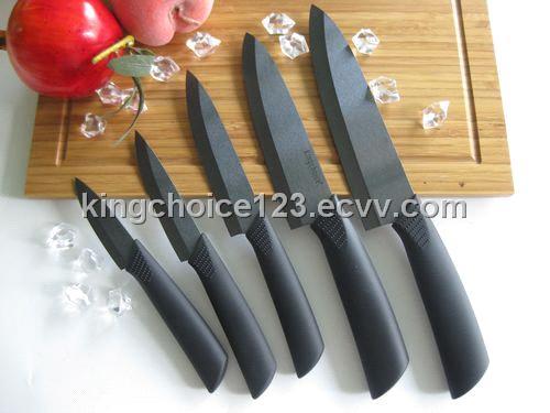 Ceramic Kitchen Chef Knife With Black Matt Blade