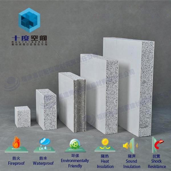 Fireproof Wall Material : Fireproof sound insulation composite solid polystyrene