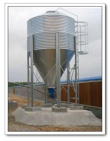 Galvanized Feed Silo for Poultry Farm Equipment