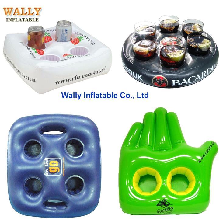 Genial Inflatable Drink Holder, Inflatable Cup Holder Beverage Beer , Floating Drink  Holder