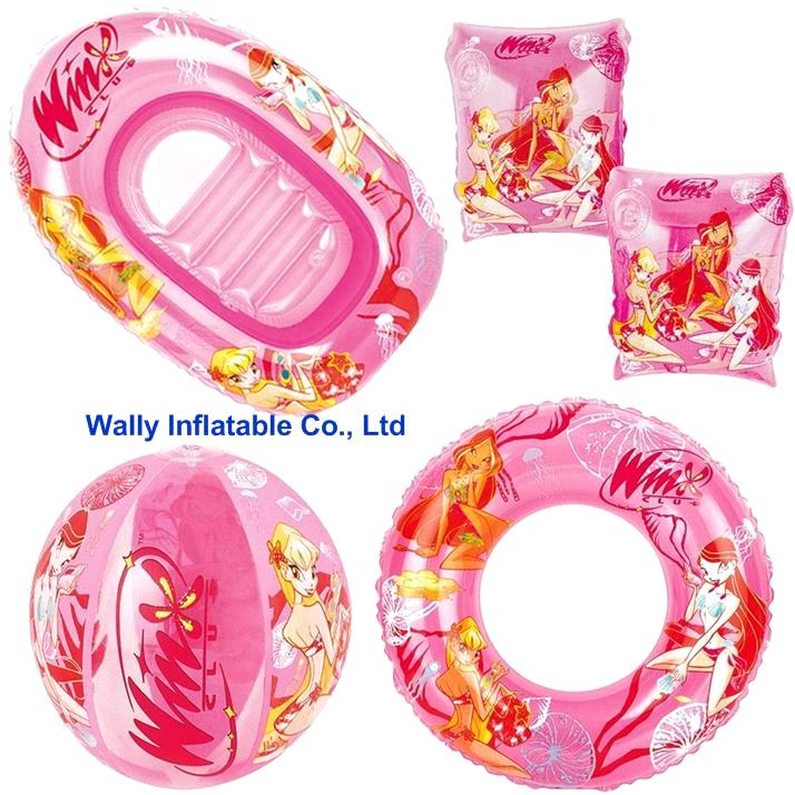 Inflatable swimming set, inflatable beach set, inflatable gift pack toy set
