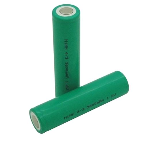 NiMH H- 4/3A 3600mAh 1.2V Rechargeable Battery