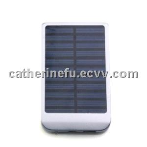 PORTABLE USB SOLAR PANEL CHARGER FOR IPHONE 4/3G/3GS/MOBILE CELL PHONES (SILVER)