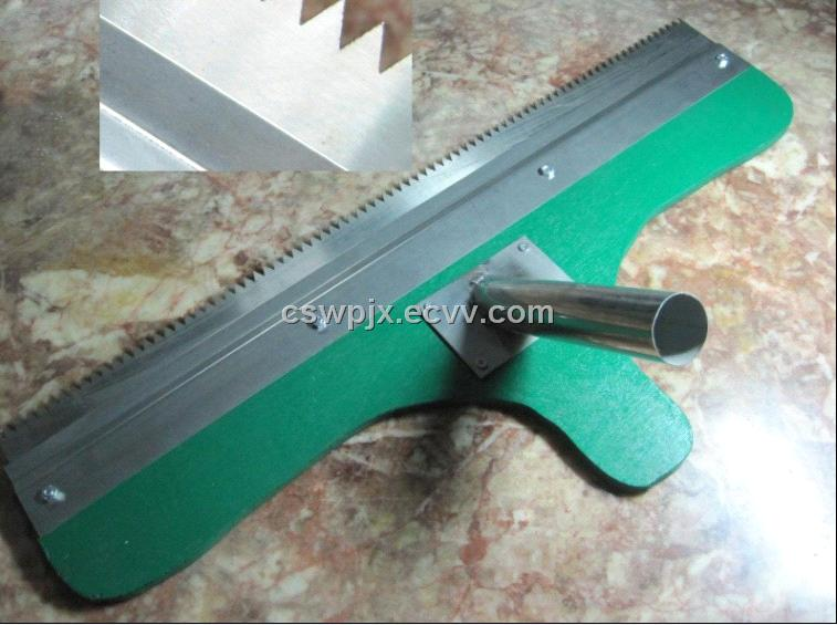 Self Leveling Tools : Paint notched squeegee for self leveling flooring