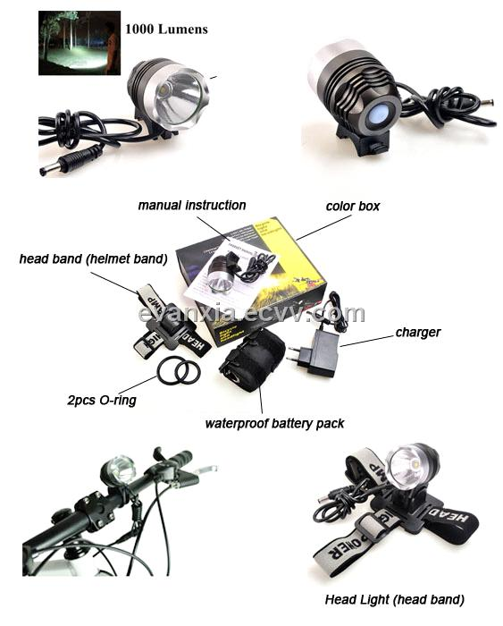 SG-B1000 MTB XML Powerful 1000 Lumens LED Bike Light/Head Light
