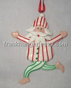 Polymer Clay Christmas Decorations.Santa Snowman Polymer Clay Christmas Ornaments
