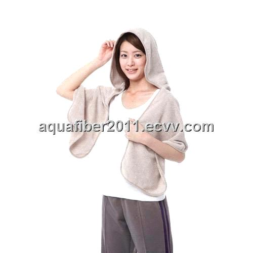 Microfiber Hooded Beach Anti-sunshine Dry towel ( HBST-002)