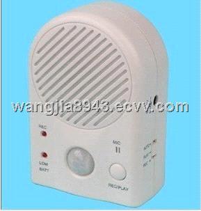 Voice recordable motion sensor sound box