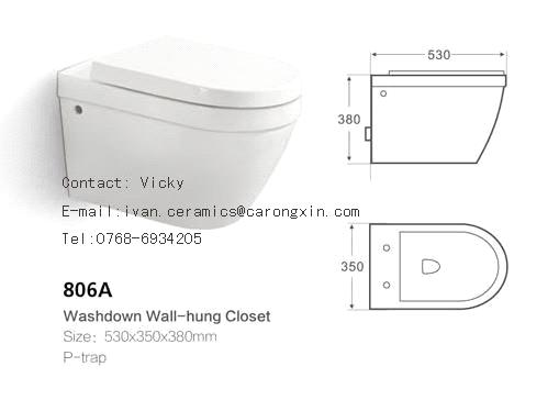 806a Washdown Wall Hung Toilet From China Manufacturer