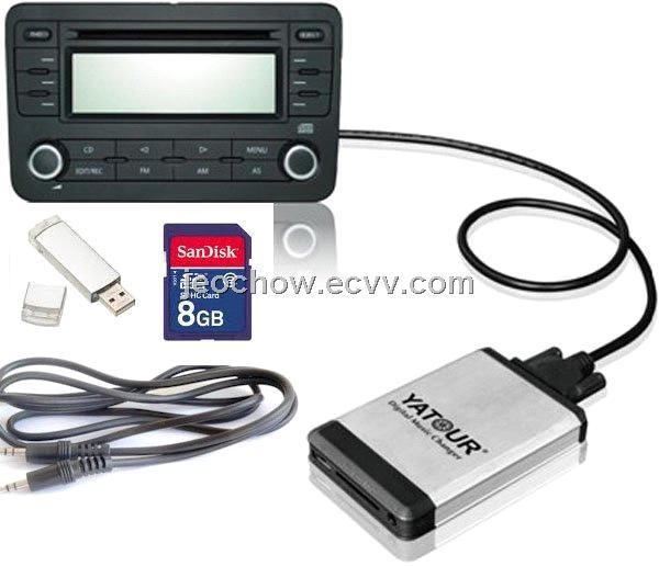 Car MP3 interface USB SD adapter for vw audi skoda seat MFD2 RCD300 RCD510  Concert 3