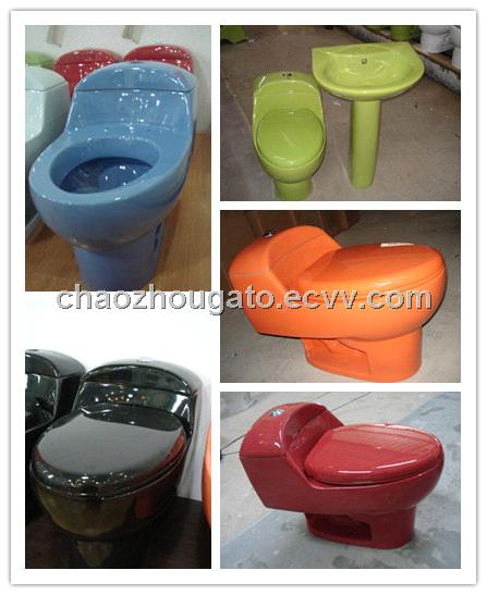 Ceramic Colored One Piece Toilet Bowl A1003 T From China