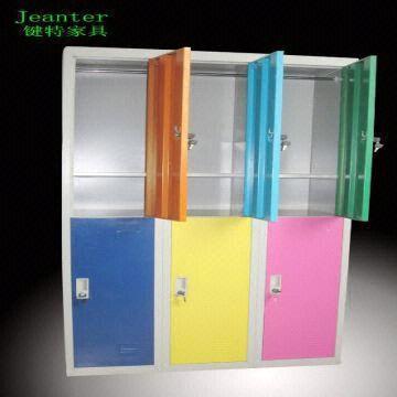 Colorful Steel Lockers With 6 Doors Metal Sheet