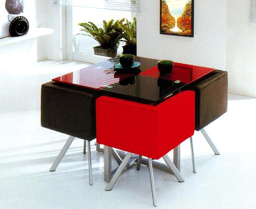Modern Design Dining Sets Include One Table And 4chairs Good Quality Guarantee