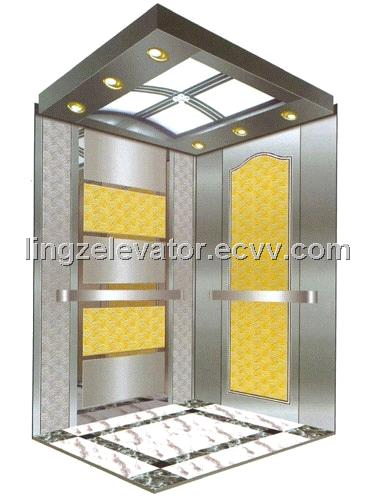 Modernization 450kg Speed 1.0m/s VVVF Traction Machine Drive Passenger Elevator With Machine Room