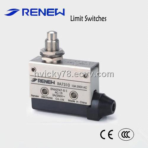 Panel mount push button type limit switch