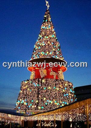 giant artificial outdoor christmas tree 13 to 50 feet tall pvc leaves - Giant Outdoor Christmas Decorations