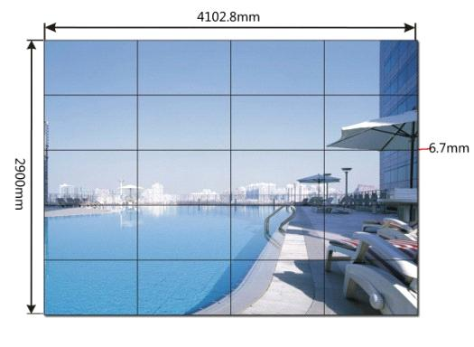 46inch LED Backlight DID 20 panels multi-screen video wall