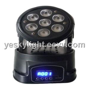 7pcs 4 IN 1 RGBW 10W LED moving head wash YK-114
