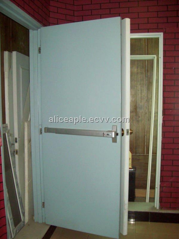 Bs476 Standard Steel Steel Fire Rated Door With Panic Bar