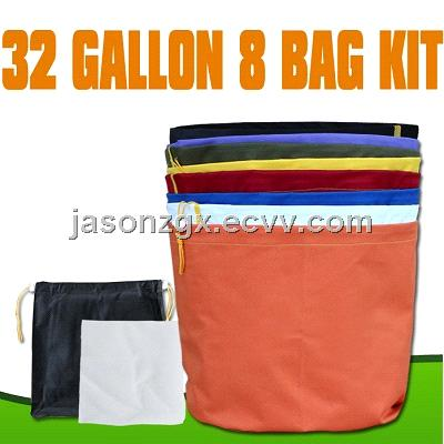 EXTRACTOR herbal 32 GALLON 8 BAG KIT with pressing screen