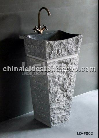 Grey granite Pedestal sink