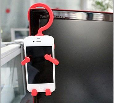 Multi use Hanger for Iphone (red color)