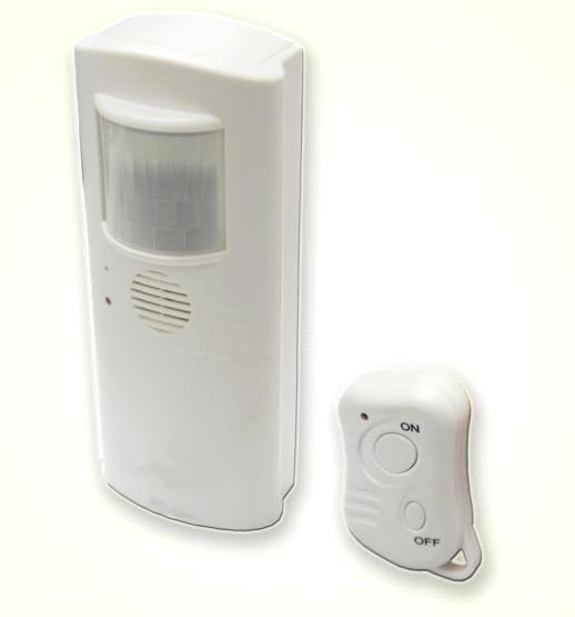 PIR alarm with auto dial and remote control