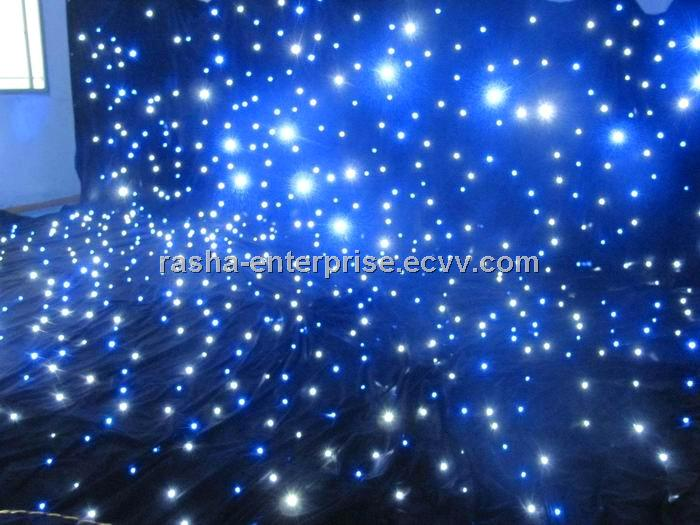 Stage Lighting 3m 4m Blue Led Star Curtain Cloth Light Backdrop