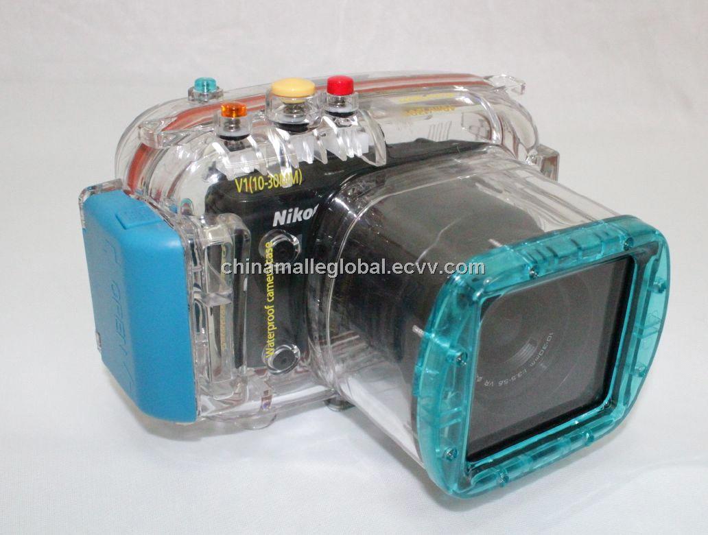 Waterproof Camera Case for Nikon V1 10 30mm Lens Underwater