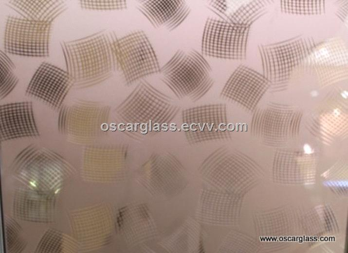acid etched glass, acid etched mirror, acid etching glass, deep acid etched glass