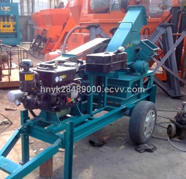 diesel engineer driven wood chipping machine
