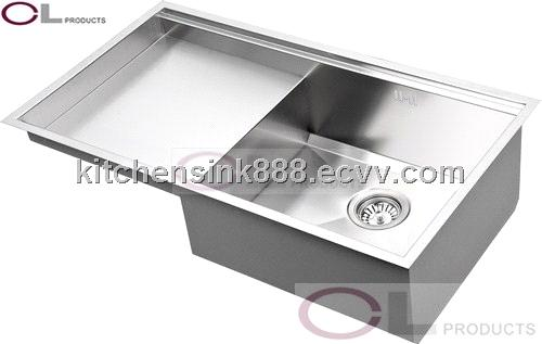 CU84SP Undermount Drainboard Kitchen Sink purchasing, souring agent on ceramic sink with drain board, cast iron sink with drain board, farm sink with drain board, apron sink with drain board,