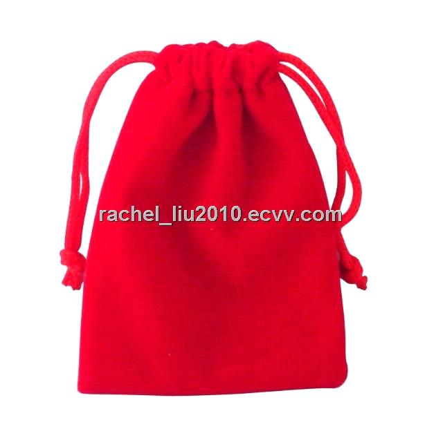 Velvet pouch, velour bag, gift bag, gift packing bag, promotion bag, Drawstring Pouch/bag
