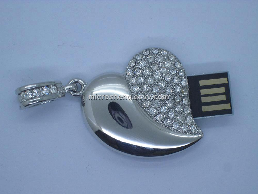 4GB Supper Thin Heart USB Flash Memory for Promotional