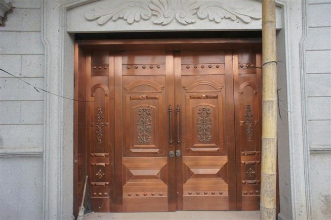 Copper Door Various Designs Are Available Suitable For