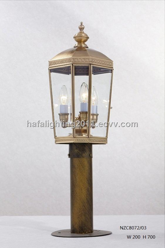 Garden decoration copper pole lightingdecorative outdoor garden light