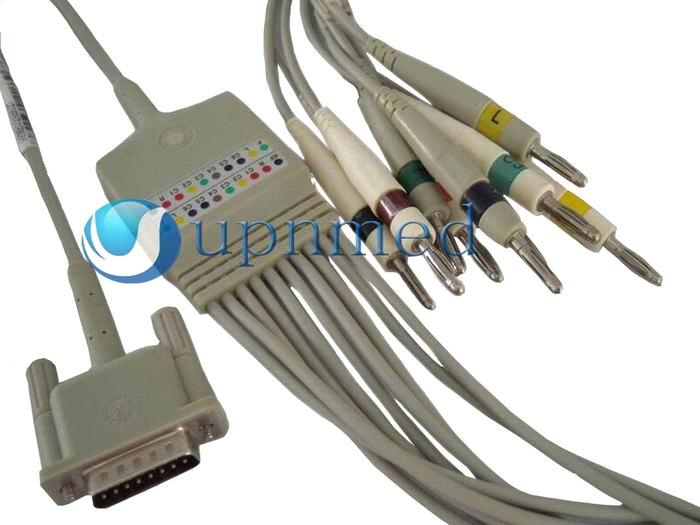 HP one piece 10-lead EKG cable with leadwires