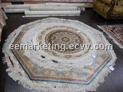 Round Handmade Knotted Persian New Area Rug China nature silk handmade carpet