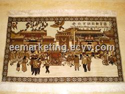 Henan Famous Handmade Silk Carpet Hand Knotted Quality Nuture Silk Carpet Rug