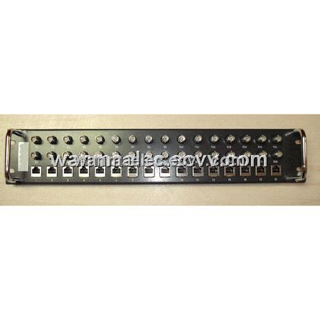 16port BNC-RJ45 Balun Panel  (2U height)