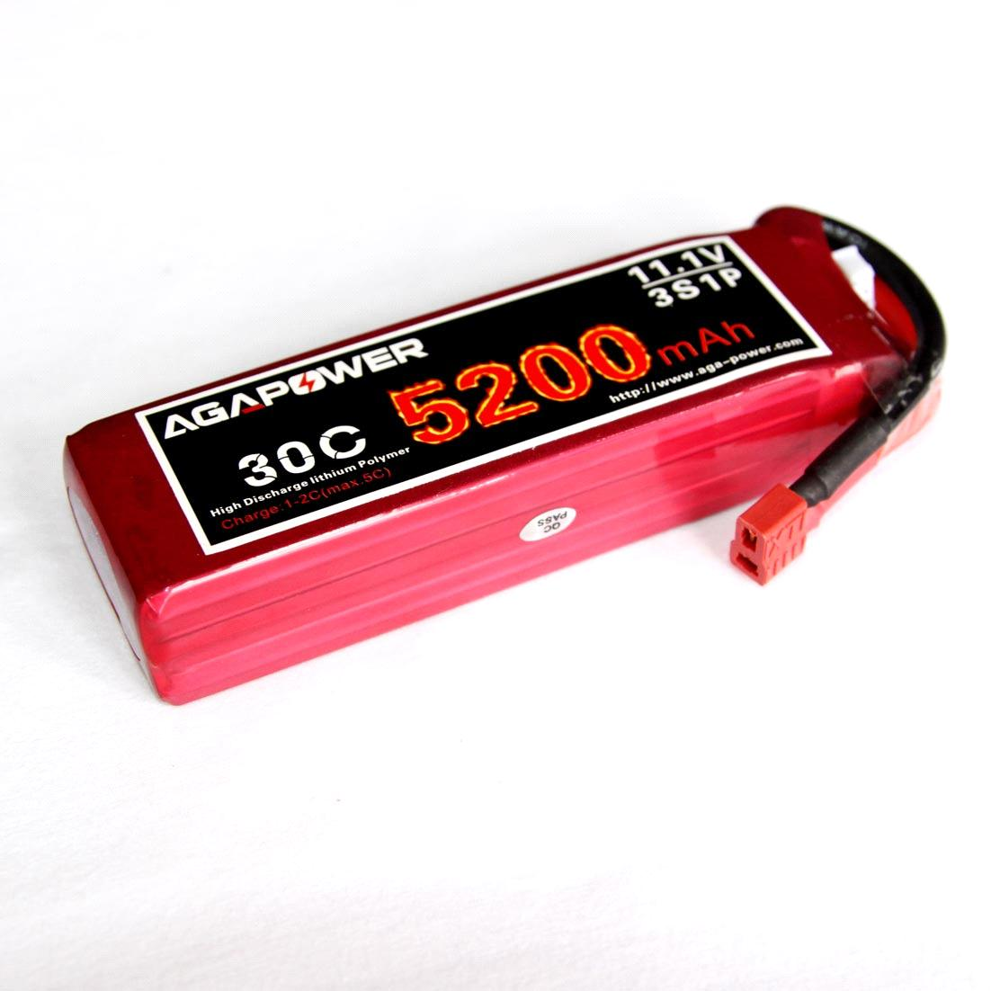AGA Lipo Battery 11.1V 5200mAh 30C for RC Helis
