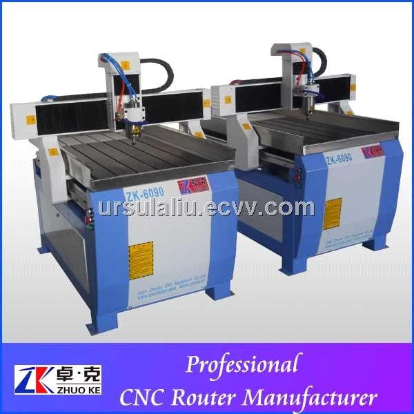 China supplier 1.5kw CNC router metal engraving/cutting machine ZK-6090