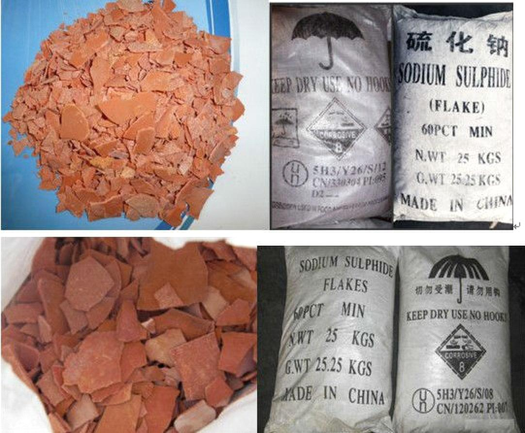 Sodium Sulfide Red Flakes, 1500ppm from China Manufacturer